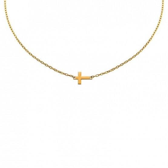 Colgante de oro con una cruz  (38307100)