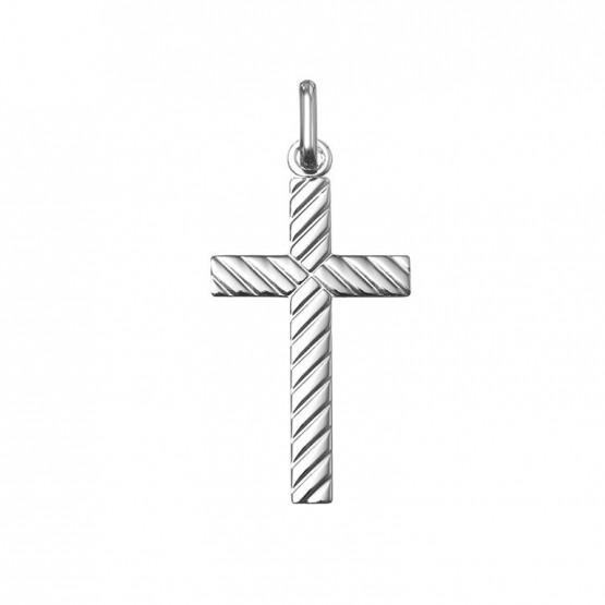 Colgante cruz en plata (232003)