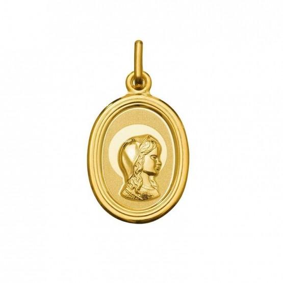 Medalla de oro ovalada Virgen Niña (1925175)
