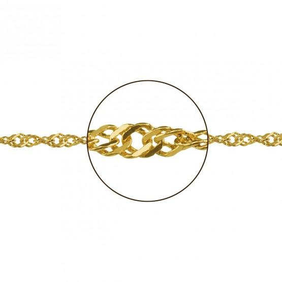 Cadena de oro amarillo entrelazada (033185023)