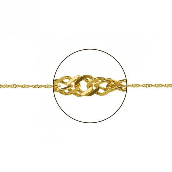 Cadena de oro 18k diseño entrelazado (033185016)