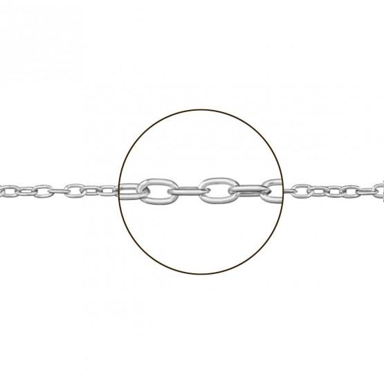 Cadena forzada de oro blanco 18k hueca (094121042)