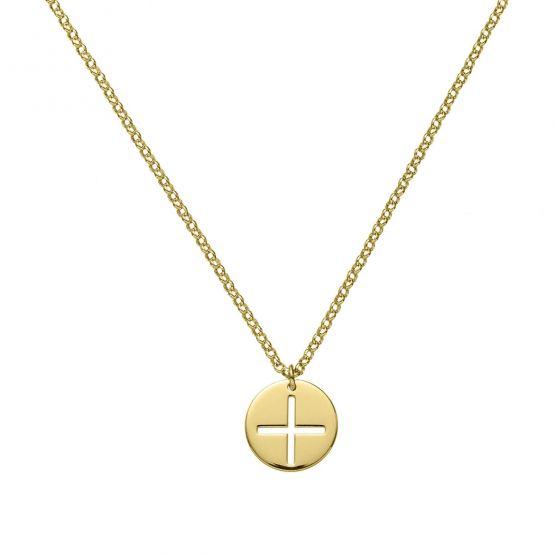 Medalla comunion disco cruz calada Oro amarillo (3A8307323)