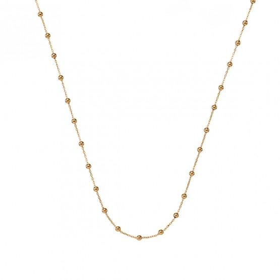 Collar oro rosa de bolas con cadena
