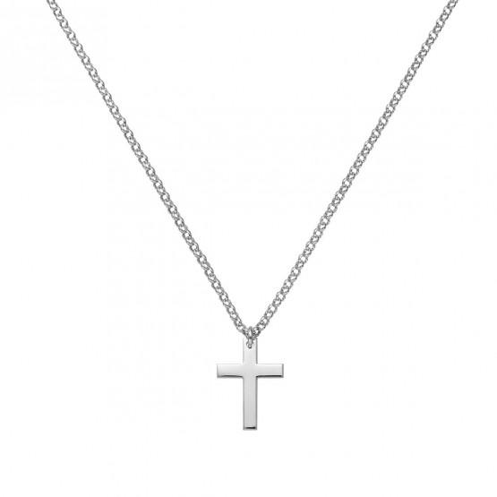 Medalla de oro blanco comunión Cruz Clásica