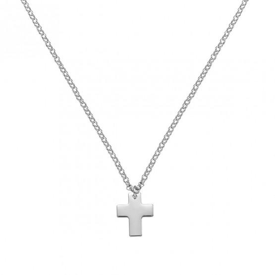 Medalla de oro blanco comunión Cruz ancha