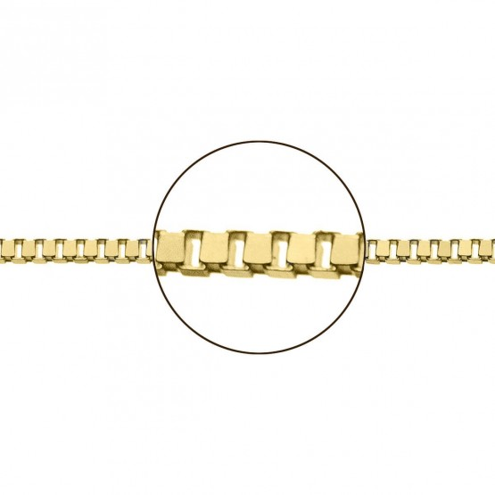 Cadena de oro amarillo 18k modelo veneciana (066101045)