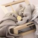 Medalla oro imagen Angelito rezando