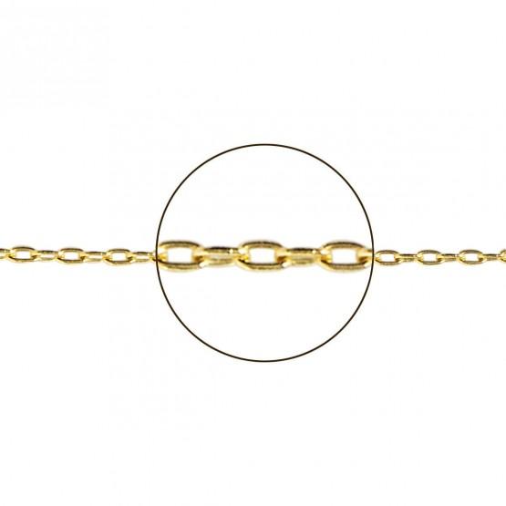 Cadena de oro macizo 18k diseño forzada