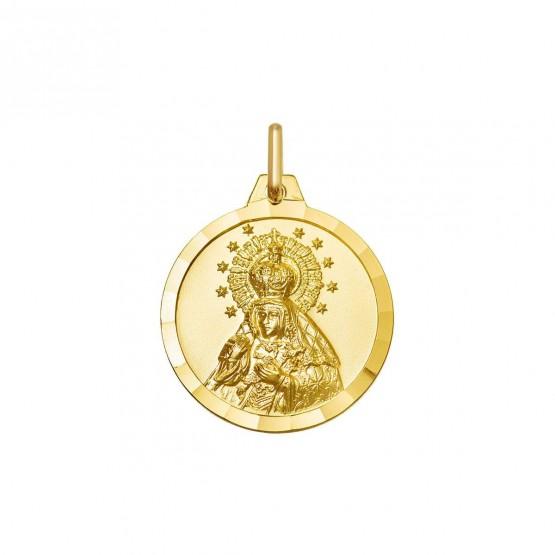 Medalla Virgen de la Macarena en oro 18k