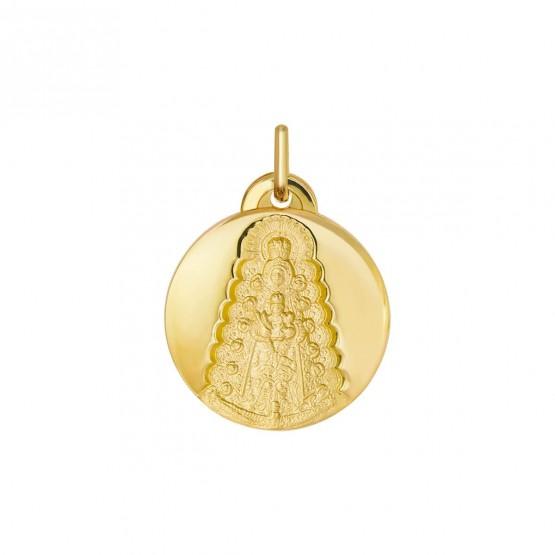 Medalla oro Virgen del Rocío forma redonda