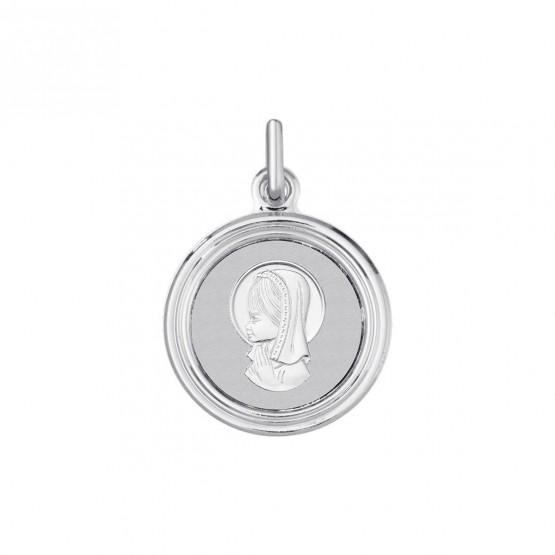 Medalla en plata para comunión