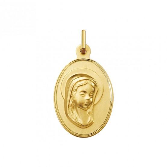 Medalla comunión oro Virgen Niña