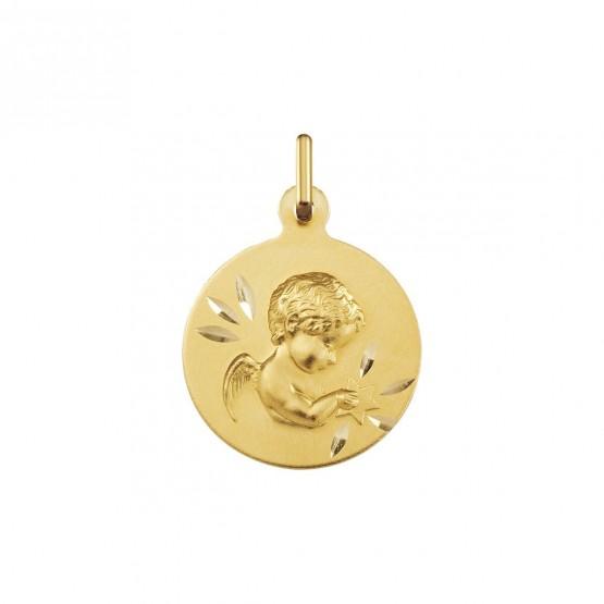 Medalla bautizo Angelito con estrella