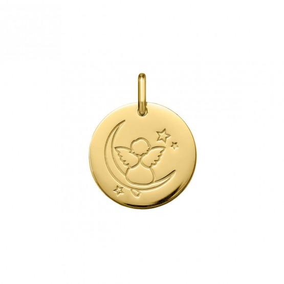 Medalla de oro 18k Ángelito en la luna