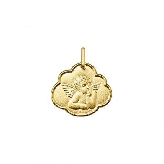 Medalla de oro amarillo Angelito