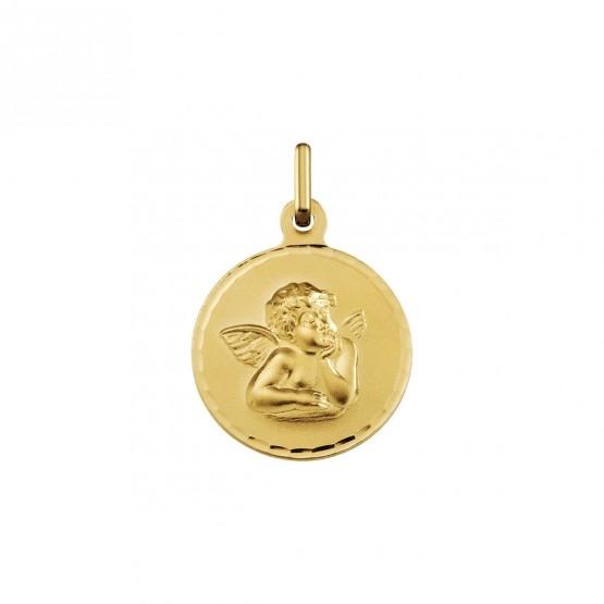 Medalla de oro angelito Rafael forma redonda (1417454N)