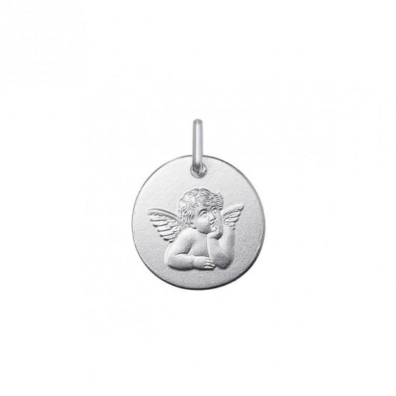 Medalla de oro blanco Ángel de la Madonna (1B265454)